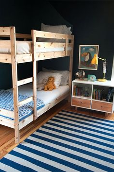 the boo and the boy: dark walls in kids' rooms