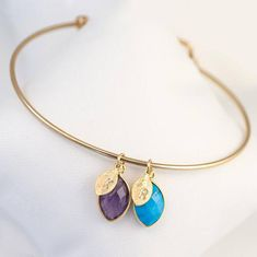 Family Birthstone Charm Bangle, Baby Shower Gift, New Mom Initial Bracelet, Custom Bracelet, Family Tree Bracelet, Personalized Gift Jewelry …………………………………. This is an amazing, one of a kind, personalized hand-stamped birthstone & initial bangle. E V E R Y T H I N G ∙ I S ∙ C U S T O M I Z