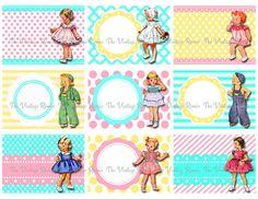 Vintage Girls, Vintage Children, Retro Vintage, Making Greeting Cards, Printable Labels, Journal Covers, Collage Sheet, Digital Collage, Paper Dolls