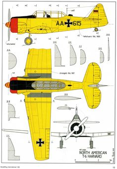 Discussion North American Aviation Texan, SNJ, Harvard Scale Drawings and Three Views Luftwaffe, Rc Plane Plans, Model Airplanes, Military Art, Harvard, Military Aircraft, Aviation, Cutaway, Models