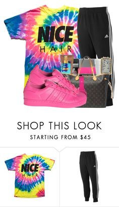 """✔️"" by lit-lauryn ❤ liked on Polyvore featuring adidas"