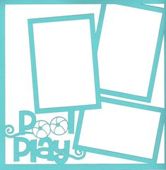 Pool Play 12 x 12 Overlay Laser Die Cut