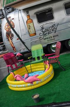 I'll take the rum, the pool, the Airstream and I am always looking to add to my flock of flamingos!