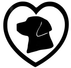 Labrador Dog Heart Love Pet Cool Car Truck Window Vinyl Decal Sticker 12 COLORS #VinylDecalSticker