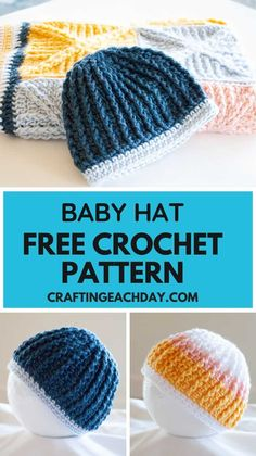 Make a warm and snuggly baby hat using this free crochet pattern.  Use Caron Pantone X bamboo or another worsted weight yarn of your choice.  #crochet #freecrochetpattern #caronpantonex