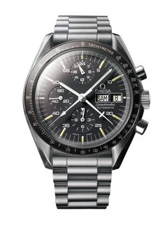 """Omega Speedmaster Automatic (1987) - considered by many collectors as the """"Holy Grail"""" of vintage Speedmasters, this was the first watch in the collection that combined an automatic movement with a """"Moonwatch"""" case. For more information about this rare Omega Speedmaster, visit us at WatchTime."""