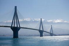 The Rio bridge and Peloponesos mountains - Greece