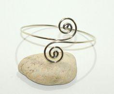 Silver Upper Arm Cuff Arm Band Handmade by ZendiazSilverwork