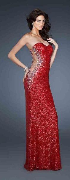 Fashion A-Line Red Long Natural Sweetheart Prom Dress lkxdresses85410hiu #redpromdress #promdress