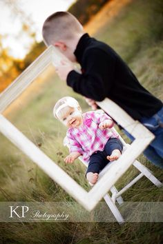 Picture frame. Siblings. Fall photos. Family photography. Family portrait. Brother and sister. Baby photos.   Photography by Kayla Renee. Genesee County, Michigan natural light photographer. Kaylapalmerphotography@gmail.com