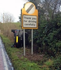 This optimistic road sign. | The 31 Greatest Moments In The History Of Irony
