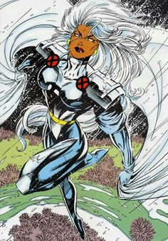 Storm X-Men animated series classic Tempestade Comic Book Characters, Marvel Characters, Comic Character, Comic Books Art, Comic Art, Book Art, Marvel Comics Art, Marvel Comic Universe, Marvel Heroes