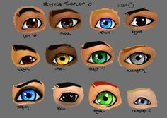 "Percy Jackson characters eyes, I think Nico's eye should be more of a dark brown rather than black. I'm not a fan of black eyes and I picture him with dark brown eyes not black eyes since they are only described as ""dark"" Percy Jackson Fan Art, Percy Jackson Characters, Percy Jackson Memes, Percy Jackson Books, Percy Jackson Fandom, Octavian Percy Jackson, Percabeth, Solangelo, Magnus Chase"