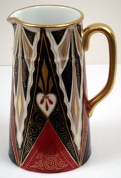 Antique Porcelain Alhambra Pitcher by Haida
