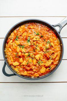 do podania: ryż basmati lub chlebki Paella, Food And Drink, Healthy Recipes, Dinner, Ethnic Recipes, Gastronomia, Chef Recipes, Kochen