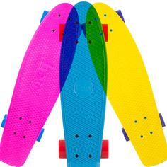 Fab.com | '70s Style Plastic Skateboards  great graphic.  aaand i know im not in jr. high anymore, but these are so cute!