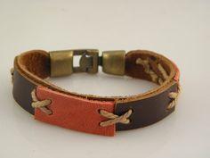 handsome Handmade Genuine Leather Cuff Bracelets  For Men