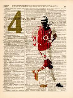 Dictionary Art print - The invincible Arsenal / Patrick Vieira / 0598 from ART POPOP Patrick Vieira, Dictionary Art, Sports Art, All Print, Arsenal, New Art, North London, Champions League, Football Players