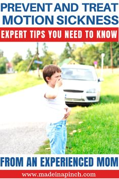 Need to know how to prevent car sickness in children? Try these strategies for preventing motion sickness and have a better family vacation! I have lifelong experience with motion sickness and know the most effective prevention and treatment options for motion sickness for kids. #motionsickness #carsickness #travel #travelwithkids #kids #parenting #familyvacation
