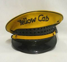They weren't yellow  and they had running boards- :-) 40's vintage cabs |  Vintage Yellow Cab Driver's Hat