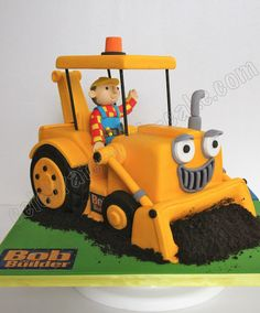 Celebrate with Cake!: Bob the Builder Scoop Cake Bob The Builder Scoop, Bob The Builder Cake, 4th Birthday Cakes, 1st Boy Birthday, Birthday Ideas, Digger Cake, Construction Birthday Parties, Construction Party, Cakes For Boys