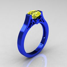 Modern 14K Blue Gold Luxurious and Simple by DesignMasters on Etsy, $599.00