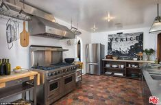Time to eat: The high-tech kitchen has a range of amenities for a budding chef including a commercial-style six-burner range