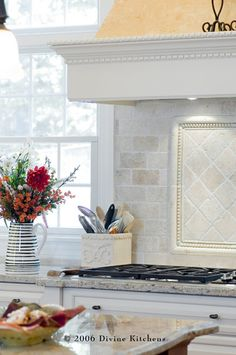 Tumbled Marble Backsplash Design, Pictures, Remodel, Decor and Ideas - page 12