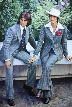 Unisex suits, photo Helmut Newton, Elégance Paris 1973