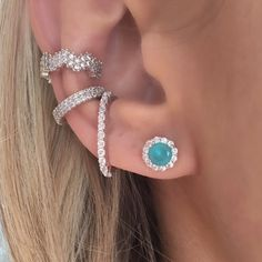 Scarf Jewelry, Body Jewelry, Cartilage Jewelry, Tragus, Cute Ear Piercings, Jewelery, Bling, Ear Cuffs, Tattoos