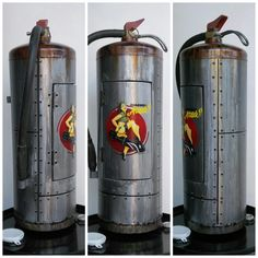 pinup custom extinguisher paint by www.happyrider.gr  #custompaint #customextinguisher #extinguisher #pinup #paint #rust
