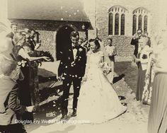 Confetti photograph - leaving the church