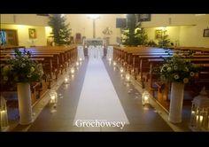 dekoracja kościoła  na  ślub Człuchów biały dywan