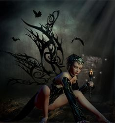 fantacy fairies and pixies | Dark Fairy by adrie janssen - 3D Artist
