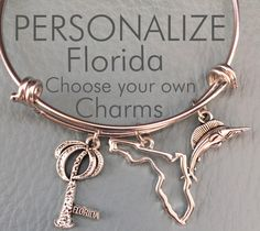 A personal favorite from my Etsy shop https://www.etsy.com/listing/228420610/florida-customize-alex-ani-inspired-your