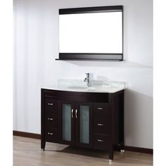 Bauhaus Bath Alfa 42 in. Single Bathroom Vanity Set with Mirror