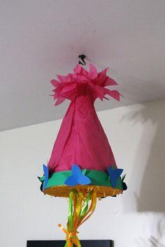 Naliya's 7th Birthday: Dreamworks Trolls Party - Poppy Hair Pinata #chicafashion