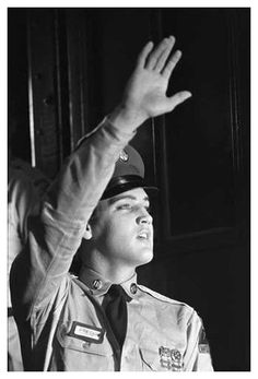 In March of 1958, Elvis reported to the Memphis Draft Board to enlist in the United States Army.