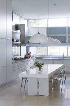 Comedor diario madera pintada de blanco ambientes - Mesas para comedor diario ...
