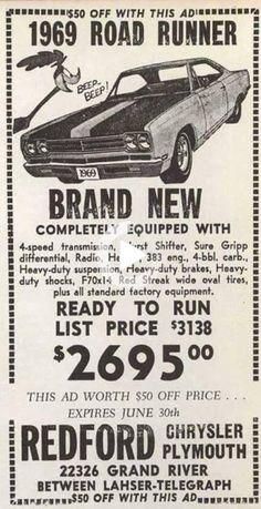 Morbid Rodz 1969 Plymouth Gtx, Dodge Super Bee, Car Guide, Kustom Kulture, Road Runner, American Muscle Cars, Old Trucks, Vintage Advertisements, Retro Ads