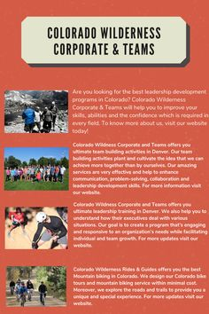 Colorado Wildness Corporate and Teams offers you ultimate team building activities in Denver. Our team building activities plant and cultivate the idea that we can achieve more together than by ourselves. Our amazing services are very effective and help to enhance communication, problem-solving, collaboration and leadership development skills. For more information visit our website.