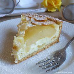 TORTA DOLCE CUORE DI PERA ricotta mandorla | Cucinare è come amare Great Desserts, Dessert Recipes, Limoncello Cake, Sweet Cakes, Cheesecakes, Fondant, Food And Drink, Ice Cream, Sweets
