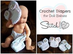 Crochet Diapers for Doll Babies