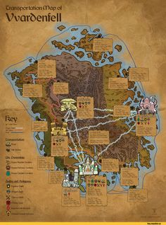 Map Of The Elder Scrolls World