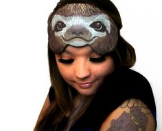 A sleep mask that understands your animal role model is a sloth. | 23 Products For People Who Love To Nap
