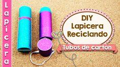 DIY   Lapicera Hecho con Tubos de Cartón   Fácil   Reciclaje