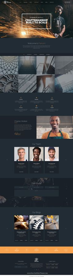 Ferrum is clean and modern design PSD template for #welding and #metal works related companies website with 16 layered PSD pages to live preview & download click on Visit #weldinglife