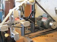 """Belt Grinder Attachment by garycullen -- I made a belt sander and small wheel attachment for my shop. The rubber rollers are from 3/4"""" to 2-1/2"""" They can index at 45 degrees around the circumference using the 5/16"""" spring plunger. I also made a platen (6"""" long) that I have to drill the mounting holes for. The whole unit is able to be turned on its side. Please ask any questions and I will be happy to answer them. I also made rollers that ride on the grit side of the belt so it can be..."""