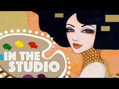 (42) In the Studio #2: Klimt Inspired Speed Paint by Leilani Joy - YouTube