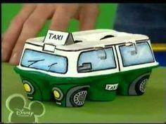 minibus con caja de huevos #recycle #eggcarton